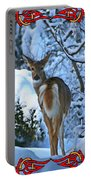 Doe In The Snow Portable Battery Charger