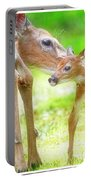 Doe Nuzzles Her Fawn Portable Battery Charger