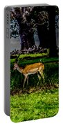 Doe - Oil Painting Print Portable Battery Charger