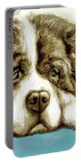 Dog -  New Pop Art Poster Portable Battery Charger