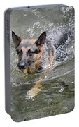 Dog Swimming In Cold Water Portable Battery Charger