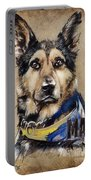 Dog Traditional Drawing Portable Battery Charger