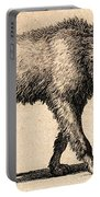 Dog With Rabies, Engraving, 1800 Portable Battery Charger