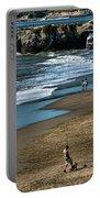 Dogs Beach Santa Cruz California Nature  Portable Battery Charger