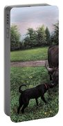 Dogs Meeting Bull Portable Battery Charger
