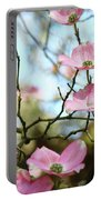 Dogwood Flowers Pink Dogwood Tree Landscape 9 Giclee Art Prints Baslee Troutman Portable Battery Charger