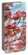 Dogwood Tree Landscape Pink Dogwood Flowers Art Portable Battery Charger