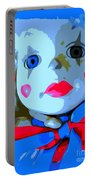 Doll In Blue Portable Battery Charger