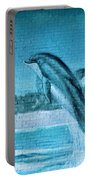 Dolphin Mural Portable Battery Charger