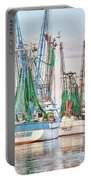 Dolphin Tail - Docked Shrimp Boats Portable Battery Charger