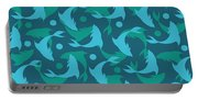 Dolphins In Blue  Portable Battery Charger