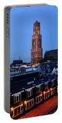 Dom Tower In Utrecht At Dusk 24 Portable Battery Charger