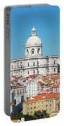 Dome Of Gothic Church In Lisbon Portable Battery Charger