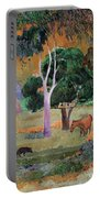 Dominican Landscape Portable Battery Charger by Paul Gauguin