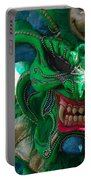 Dominican Republic Carnival Parade Green Devil Mask Portable Battery Charger