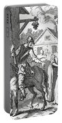 Don Quixote And Sancho Panza By William Portable Battery Charger