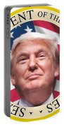 Donald Trump Us President United States Seal  Portable Battery Charger