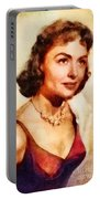 Donna Reed, Vintage Hollywood Actress Portable Battery Charger