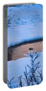 Donnelly Creek In Winter Portable Battery Charger