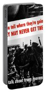 Don't Talk About Troop Movements Portable Battery Charger