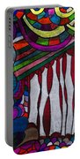 Doodle Page 6 - Bones And Curtains - Ink Abstract Portable Battery Charger