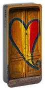 Door With Heart Portable Battery Charger by Joana Kruse