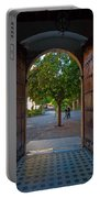 Doorway And Arch Between Gardens Portable Battery Charger