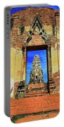 Doorway To Wat Ratburana In Ayutthaya, Thailand Portable Battery Charger