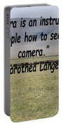 Dorothea Lange Quote Portable Battery Charger