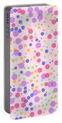 Dots On Pink Background Portable Battery Charger
