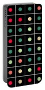 Dotted Grid Portable Battery Charger