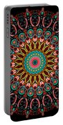 Dotted Wishes No. 4 Mandala Portable Battery Charger