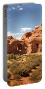 Double Arch Famous Landmark In Arches National Park Utah Portable Battery Charger