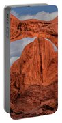 Double Arches At Arches National Park Portable Battery Charger