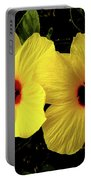 Double Hibiscus Portable Battery Charger