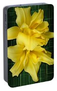 Double Jackpot Daylilies Portable Battery Charger
