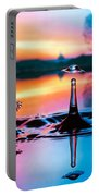 Double Liquid Art Portable Battery Charger by William Lee