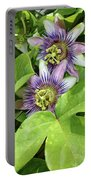 Double Passion Flowers Portable Battery Charger