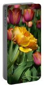 Double Petal Yellow Tulip Portable Battery Charger