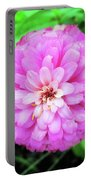Double Pink Zinnia Portable Battery Charger