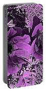 Double Poppies In Purple Portable Battery Charger