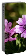 Double Purple African Daisy Portable Battery Charger