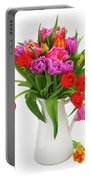 Double Tulips Bouquet Portable Battery Charger