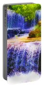 Double Waterfall Portable Battery Charger by Bill Cannon