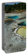 Doublet Pool Hot Spring In Yellowstone Portable Battery Charger