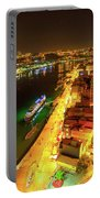 Douro River Skyline Night Portable Battery Charger