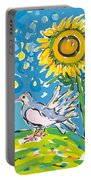 Dove And Sunflower Portable Battery Charger