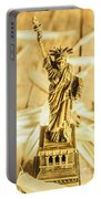 Dove Feathers And American Landmarks Portable Battery Charger