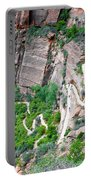 Downhill Switchbacks From Angels Landing Portable Battery Charger