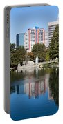 Downtown Charlotte North Carolina From Marshall Park Portable Battery Charger